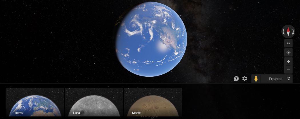 Visita Marte y la Luna con Google Maps