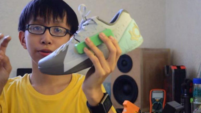 zapato que genera energía al caminar