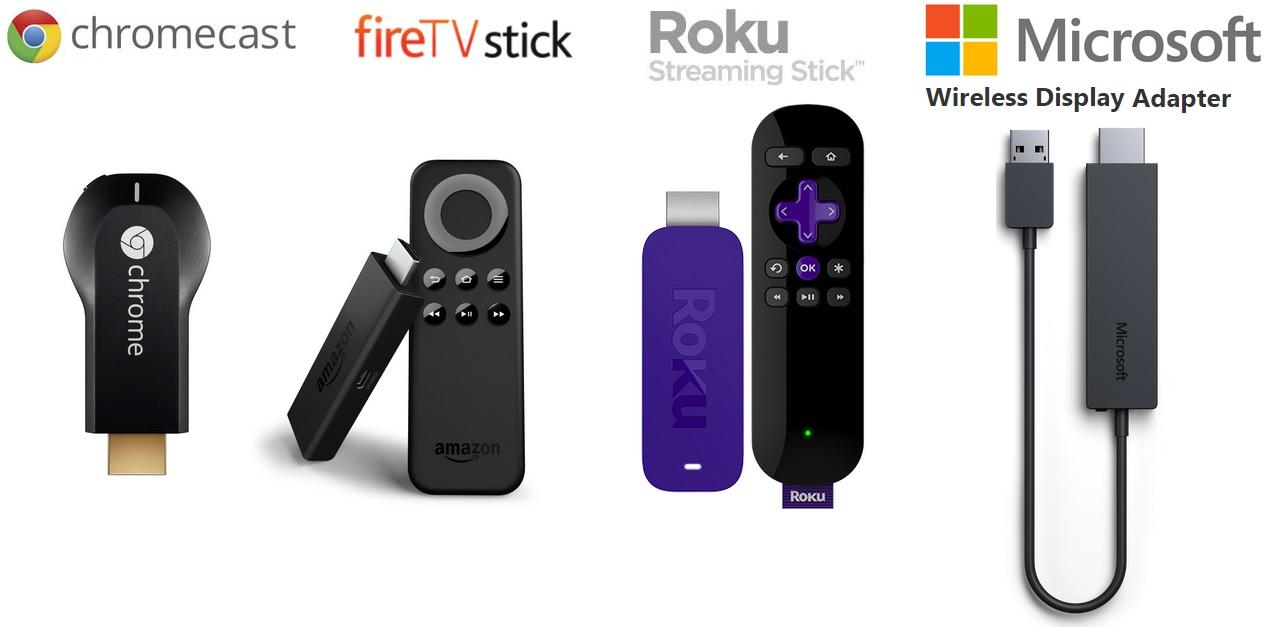 ChromeCast VS Fire TV Stick VS Roku Streaming Stick VS Microsoft Wireless Display