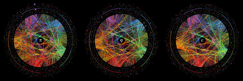 El arte de π, φ y e