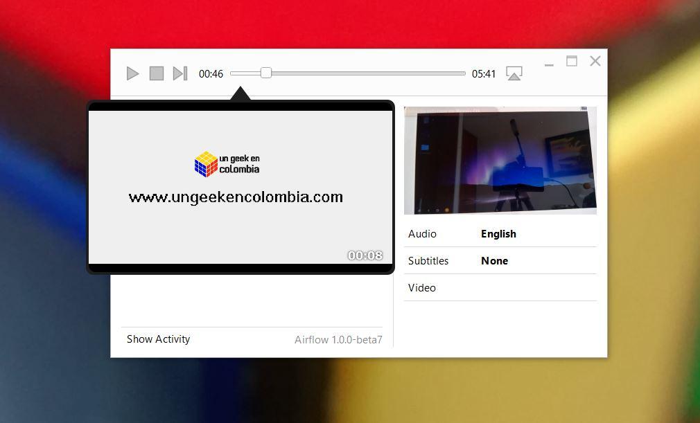 Airflow un Aplicación para PC que transmite cualquier video a un ChromeCast o AppleTV