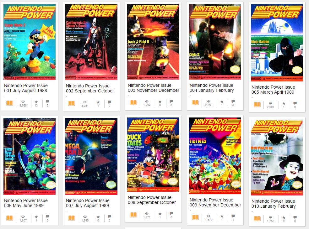 Nintendo Power online