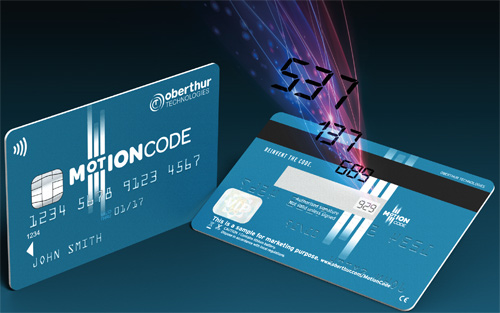 Las tarjetas de crédito Motion Code tendrían un token embebido en ellas