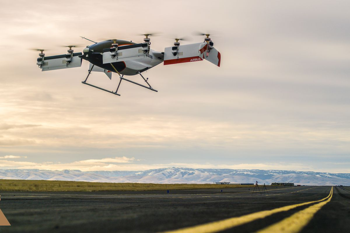 Vahana, el dron taxi auto pilotado de Airbus realizó con éxito su primea prueba de vuelo