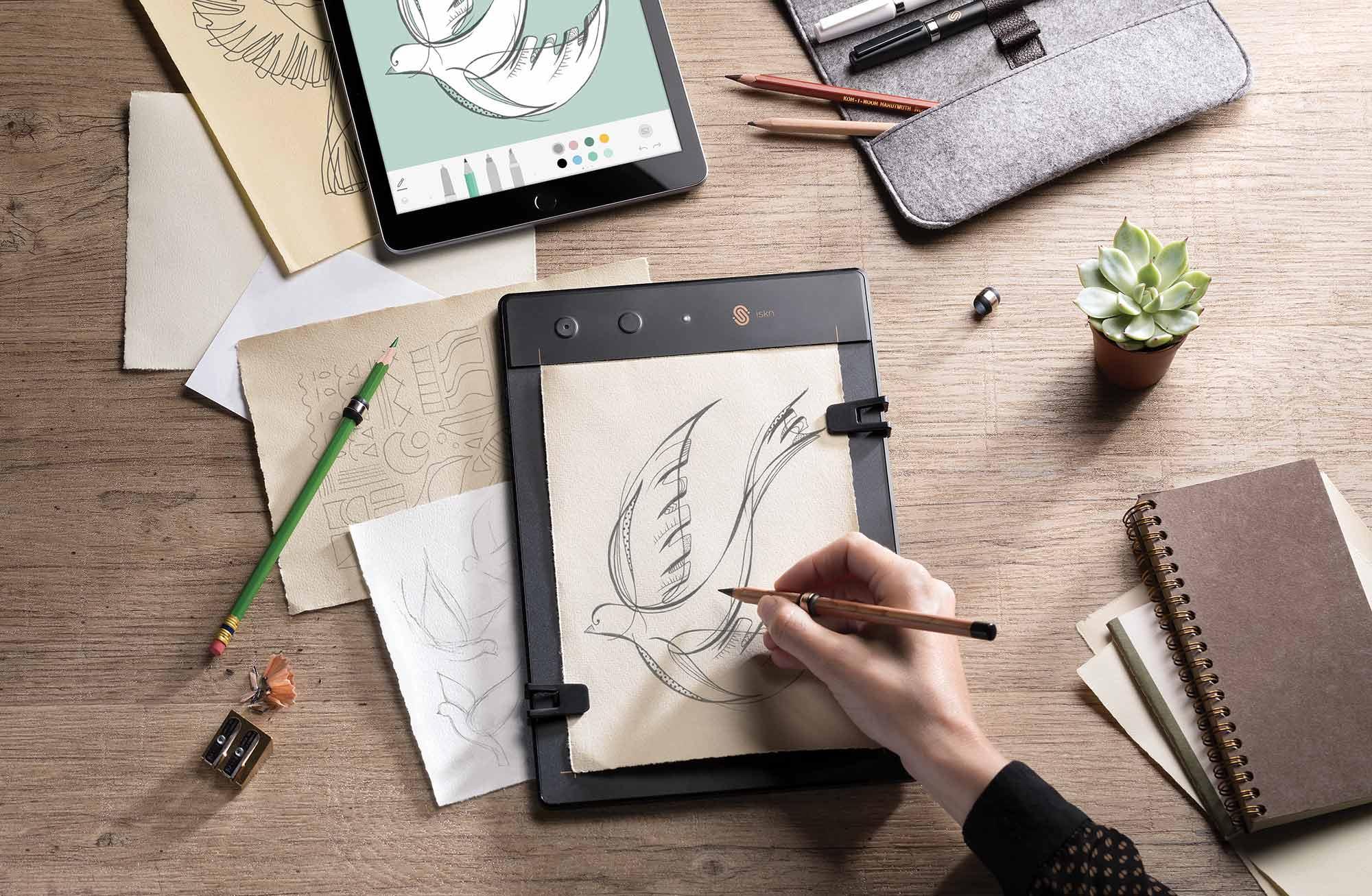 Slate 2+, un anillo que puedes colocar en tu lápiz para digitalizar tus creaciones en tiempo real